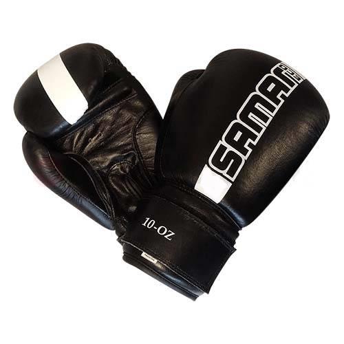 Saman ECO boxkesztyű, bőr, fekete