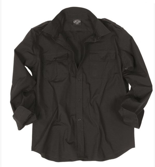 Galléros ing, hosszúujjú, fekete, 10915002