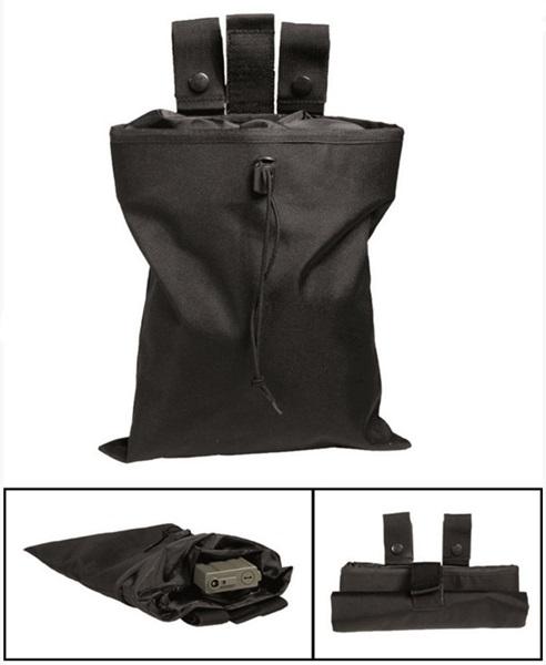 Összehajtható kistáska, fekete, 16156002