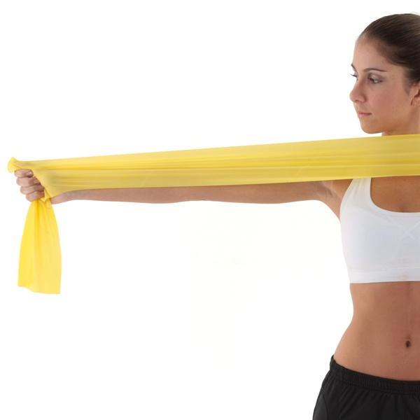 TheraBand™ Erősítő gumiszalag, gyenge, sárga, TH1