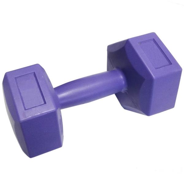 Műanyag egykezes súlyzó, 2×5 kg