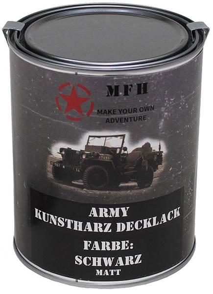 Katonai álcázó festék, 1l-es, matt fekete, 27377A