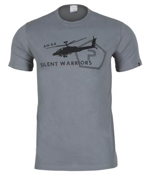Pentagon Helikopter pamut póló, szürke, K09005