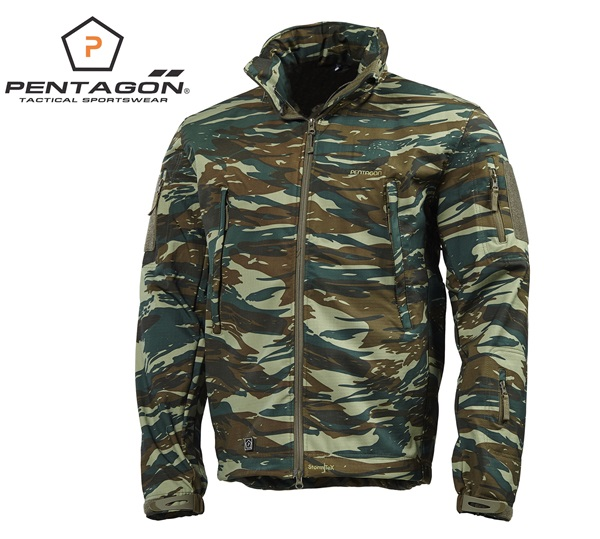 Pentagon Artaxes Soft-Shell taktikai kabát, camo, K08011