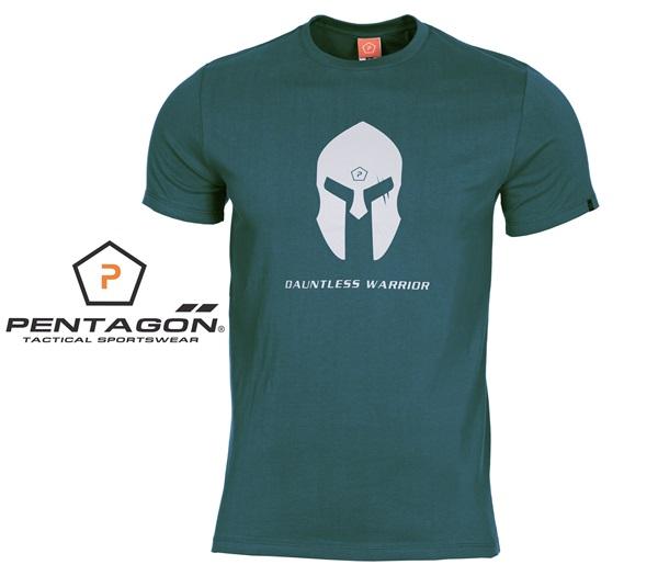 Pentagon Spártai taktikai póló, zöldeskék, K09012