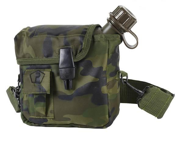 Pentagon taktikai 1,9l-es kulacs táskával, woodland, ST19004-wood