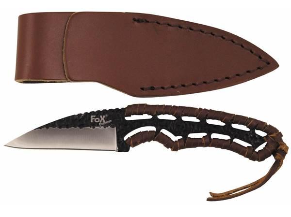 """""""Büffel II"""" kés bőr markolattal, bőr tokkal, 44545"""