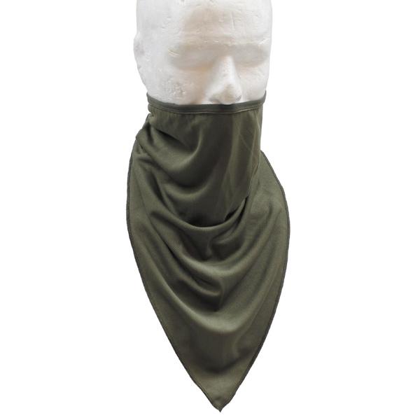 Taktikai arc és nyakvédő sál, oliv, 16323B