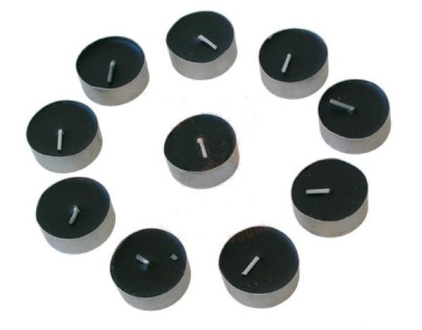 Fekete mécses, 10 db, 831-003