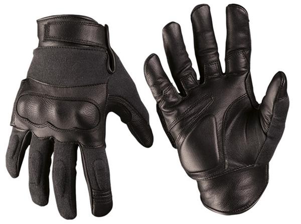 Bőr-kevlár taktikai kesztyű, fekete, 12504202