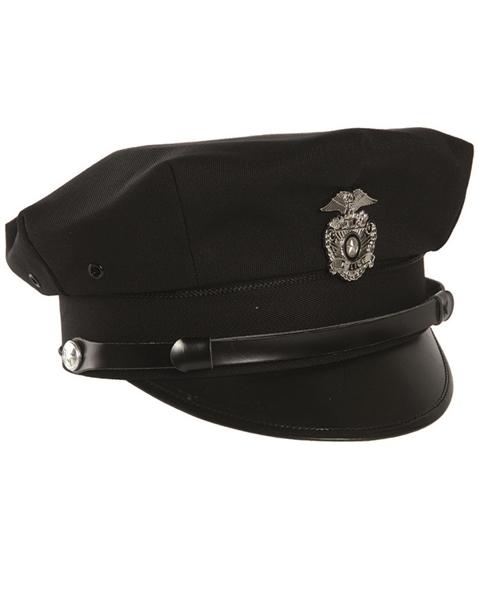 US amerikai rendőrségi sapka, fekete, 12421100