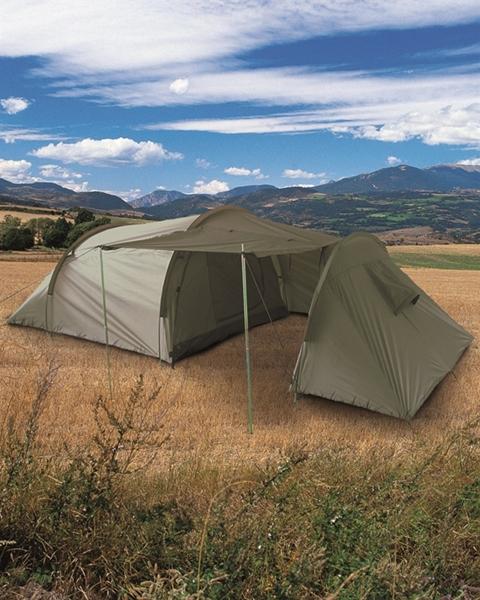 3 személyes családi sátor, két fülkés, oliv, 14226000