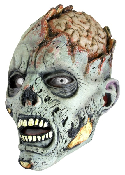 Zombie maszk, szürke, 51422150