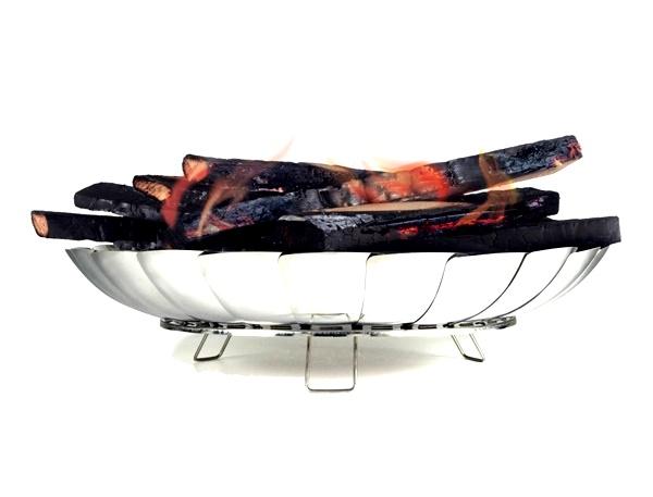 Mozgatható, 23 lamellájú tűz tál, tűz tér, 052485