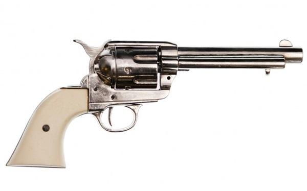 Colt Peacemaker .45, nikkelezett, 100-150