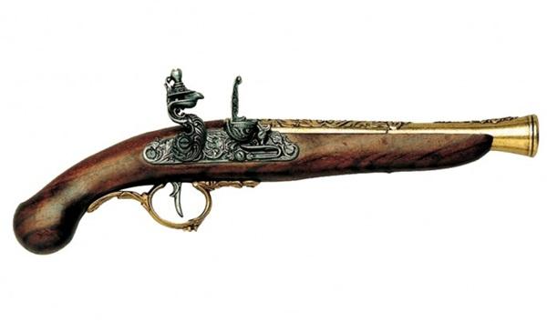 Germán kovás pisztoly, arany, 100-126