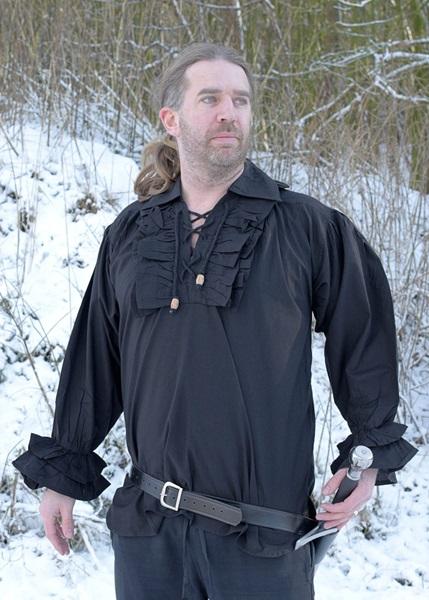 Fodros pamut ing, fekete, 1202401820