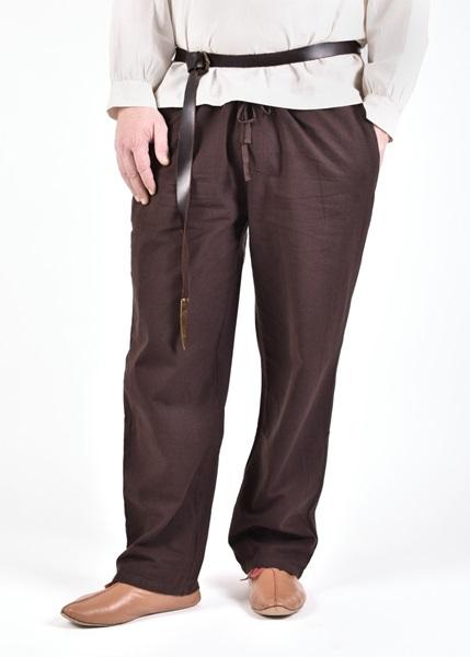 Középkori pamut nadrág, barna, 1280000630