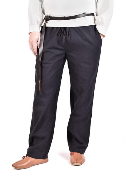 Középkori pamut nadrág, fekete, 1280000620