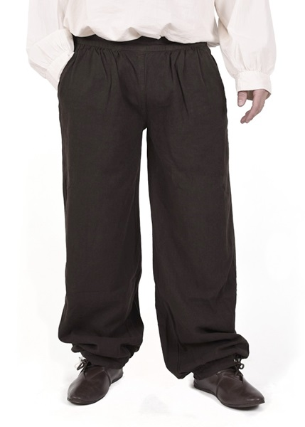 Középkori pamut nadrág, barna, 1280000730