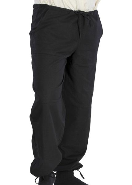 Középkori pamut nadrág, fekete, 3011535