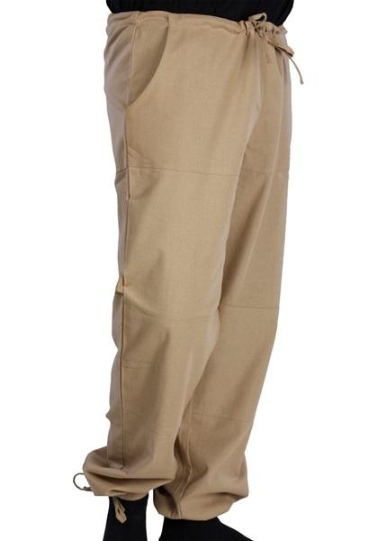 Középkori pamut nadrág, beige, 301154