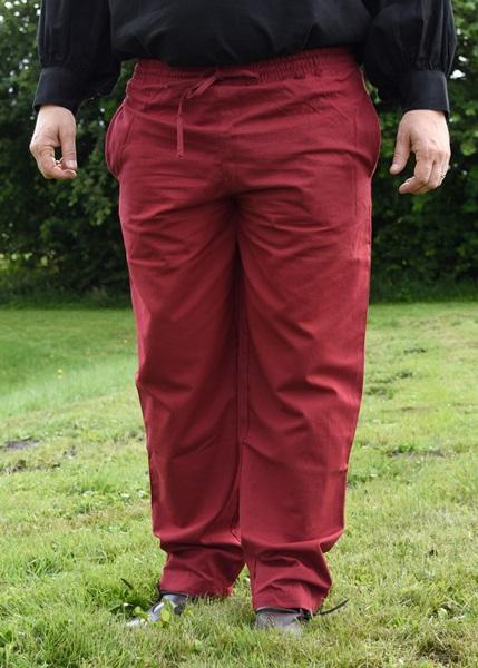 Középkori pamut nadrág, piros, 1202307550