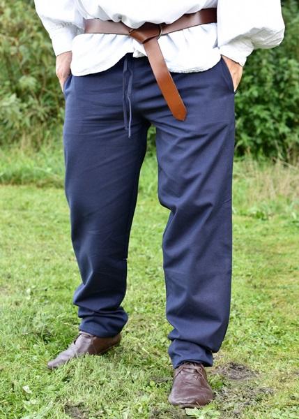 Középkori pamut nadrág, kék, 1202307560