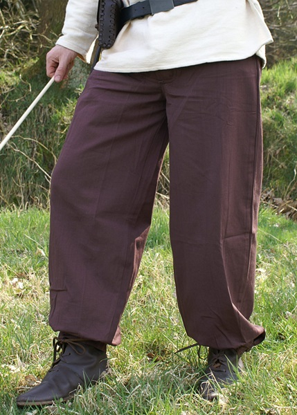 Középkori pamut nadrág, barna, 1202208730