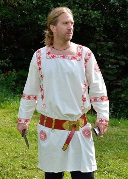 Római hímzett tunika, fehér-piros, 1216207510