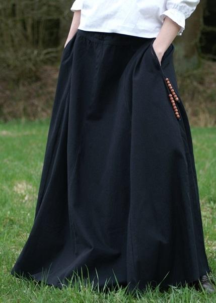 Középkori szoknya, fekete, 1216303040