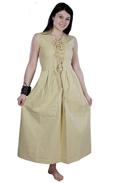 Középkori női paraszti ruha, beige, 310706
