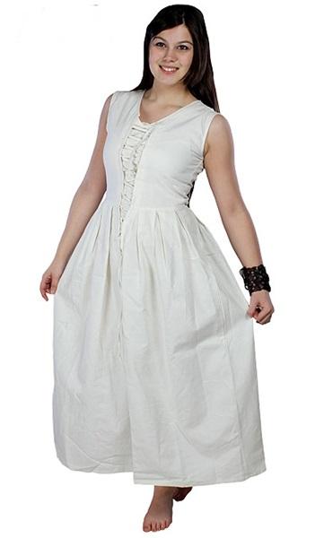 Középkori női paraszti ruha, fehér, 310705