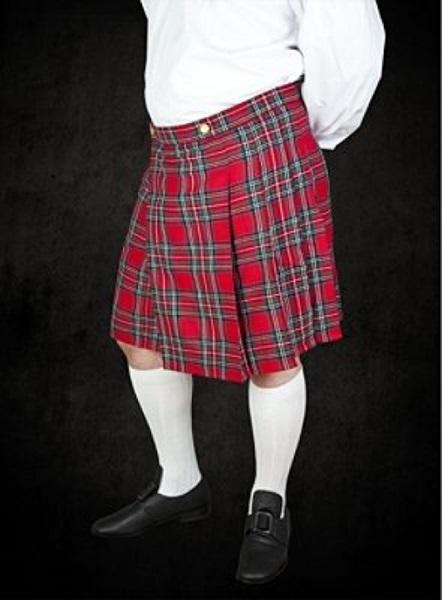 Skót szoknya, piros-fekete, 121160
