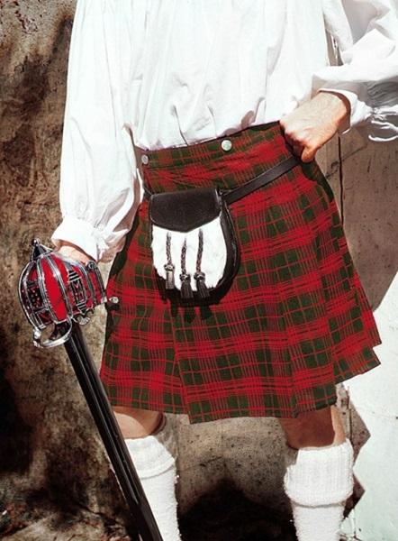 Skót szoknya, piros-zöld, 120005