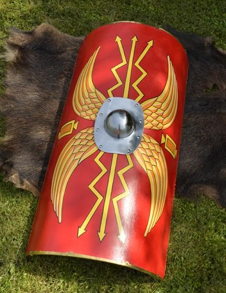 Római Scutum pajzs vas középpel, 1116385302