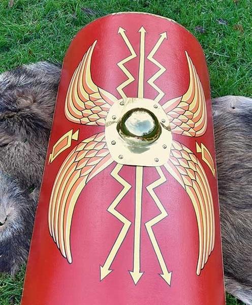 Római Scutum pajzs réz középpel, 1116385301