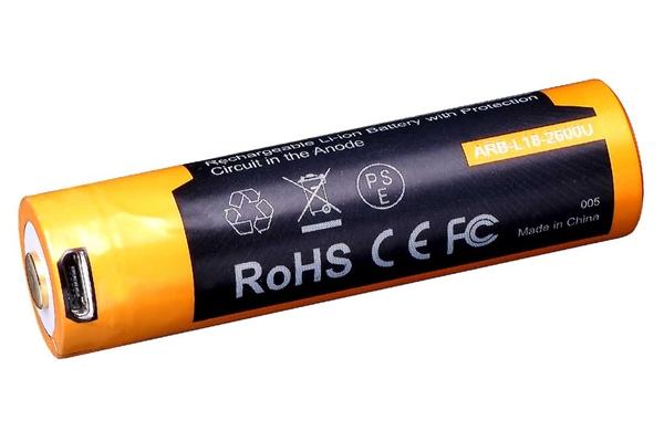Fenix tölthető ceruza elem, beépített mikro-USB töltőnyílással, AA, 1600 mAh