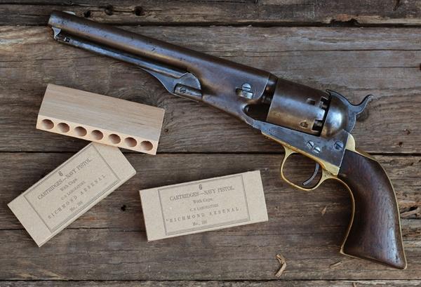 Autentikus konföderációs revolver tölténytartó doboz .36