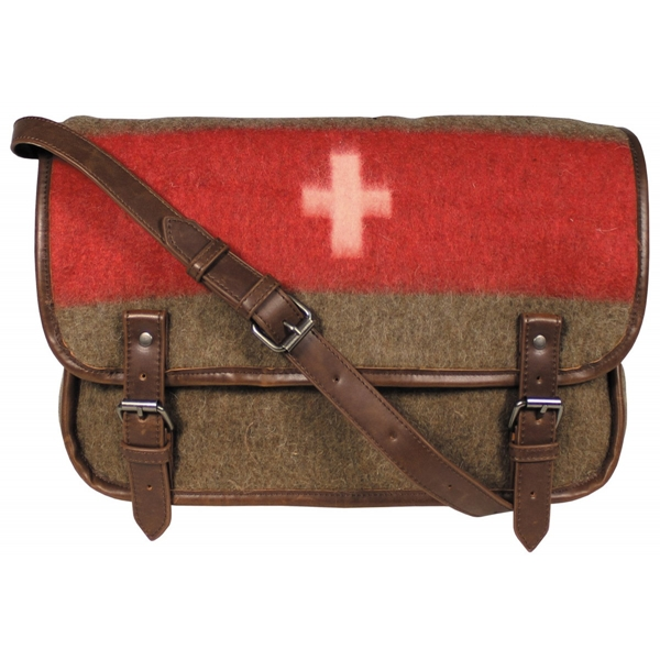 Svájci, katonai felcser válltáska, 30013