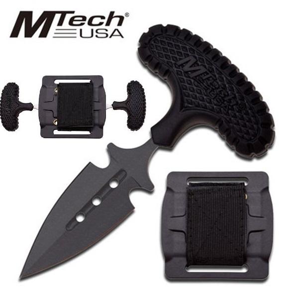 MTech Push Dagger kétrészes marokkés, MT2046BK