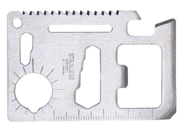 Bankkártya méretű multiszerszám, tokkal, 27187