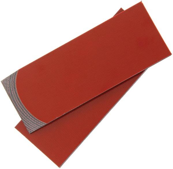 G-10, piros-fekete, 100x35x6,3 mm, RR1479