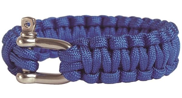 Paracord karkötő seklivel, kék, 2,2 cm, 16370403