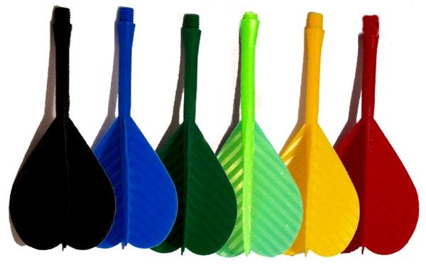 Műanyag 2BA méretű darts szár és toll egyben