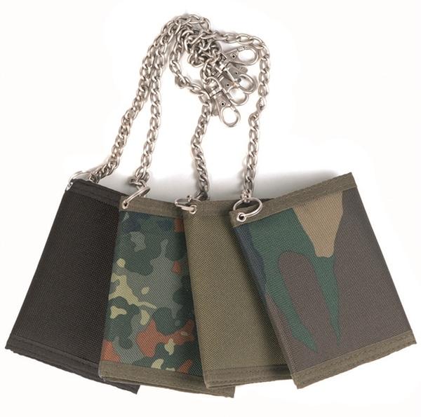 Gyöngyvászon pénztárca rögzítő lánccal