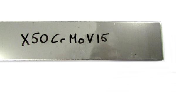 X50CrMoV15 rozsdamentes acél késpenge alapanyag, 25cm, 34850