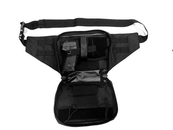 Molle pisztolytartó övtáska rejtett fegyverviseléshez, fekete, 16149002
