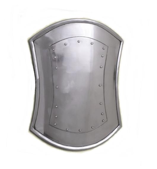 Szögletes fém pajzs, 41 cm-es, SD-01
