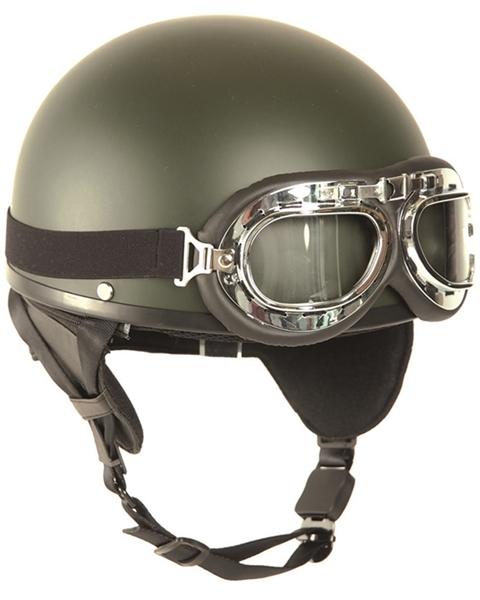 Félcsészés bukósisak szemüveggel, oliv, 16688101